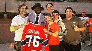 P.K. Subban rencontre son fan... René-Charles!