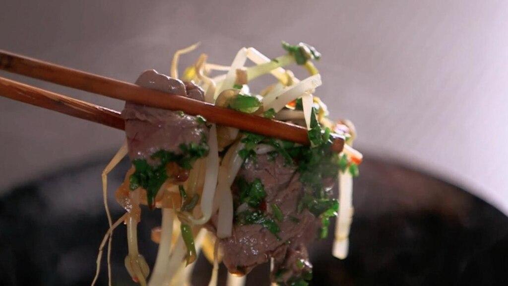 Soupe repas asiatique