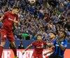 Nick Hagglund et ses coéquipiers du Toronto FC ont marqué deux buts importants en deuxième demie, mardi, dans le match aller de la finale de l'Est de la MLS.