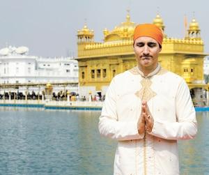 Justin Trudeau lors de sa visite de huit jours en Inde la semaine passée, que plusieurs qualifient de «désastre».