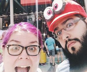 Nos collaborateurs à l'E3, visiblement excités.
