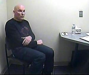 Interrogatoire de l'ex-entraîneur de ski Bertrand Charest au poste de police de Mont-Tremblant le 6mars2015.