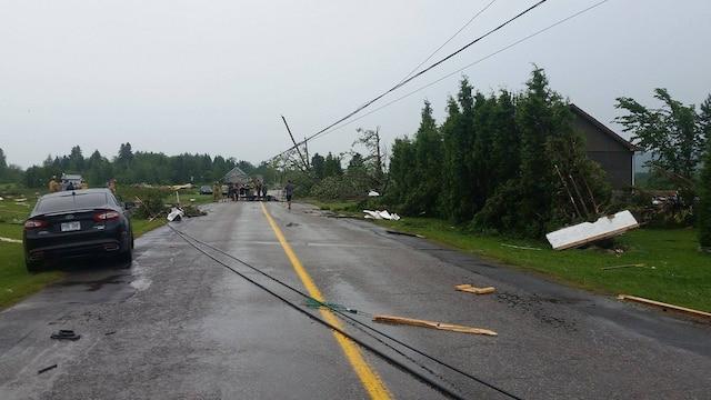 Le temps violent a fait des dégâts près de Hébertville