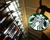 A Starbucks store is seen inside the Tom Bradley terminal at LAX airport in Los Angeles in this file photo