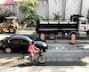 Les automobilistes et les cyclistes doivent partager la rue Saint-Urbain, à Montréal, une situation «stressante».
