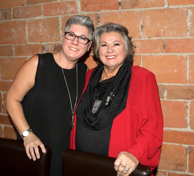 Avec sa fille Natacha . Party Ginette Reno , party surprise de Ginette Reno le 28 avril 2016Photos BEN PELOSSE/ JDM / LE JOURNAL DE MONTRÉAL / AGENCE QMI
