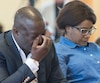 Kouadio Frédéric Kouakou et Akouena Noella Bibie, les parents d'Ariel, avaient peine à contrôler leurs émotions lors d'une cérémonie tenue à l'église Sainte-Odile, samedi.