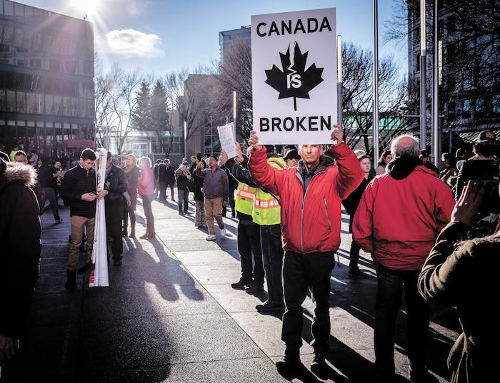 Une manifestation pro-oléoduc s'est tenue en Alberta, lundi dernier.