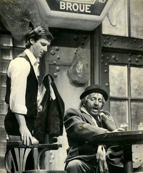 Marc Messier et Michel Côté lors de la représentation de Broue du 2 avril 1982. Lapièce a fait ses débuts en 1979.
