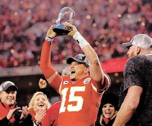 Patrick Mahomes a vécu de grands moments en remportant avec les Chiefs le championnat de la conférence américaine, mais il risque de soulever un trophée encore plus important demain.