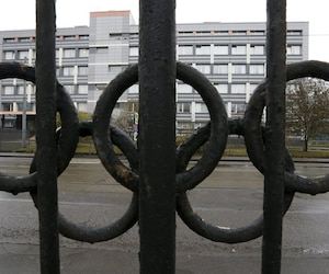 A view shows a building, which houses a laboratory accredited by WADA, in Moscow