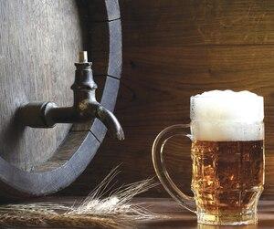 Beer with barrel