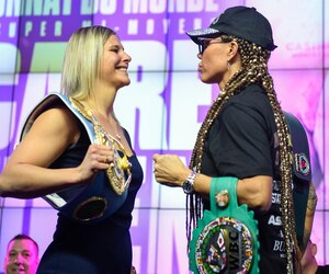 Marie-Ève Dicaire et Mikaela Lauren étaient dans un bon état d'esprit mercredi, à l'occasion de la conférence de presse donnée en prévision de leur combat de samedi.