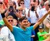 Première tête de série à la Coupe Mercedes, Federer n'avait pas joué depuis le mois de mars après avoir fait l'impasse sur la saison de terre battue.