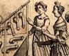 *Gravure tirée de L'École des filles – ou la philosophie des dames, premier ouvrage libertin d'auteur inconnu, parût en 1655.
