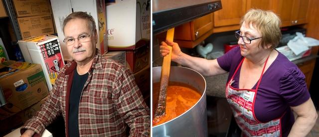 André Faucher et sa conjointe Linda Faucher, un couple de retraités de Brossard, s'investissent depuis 15ans dans leur association «Un Cœur pour les autres», qui vient en aide aux gens de la rue.