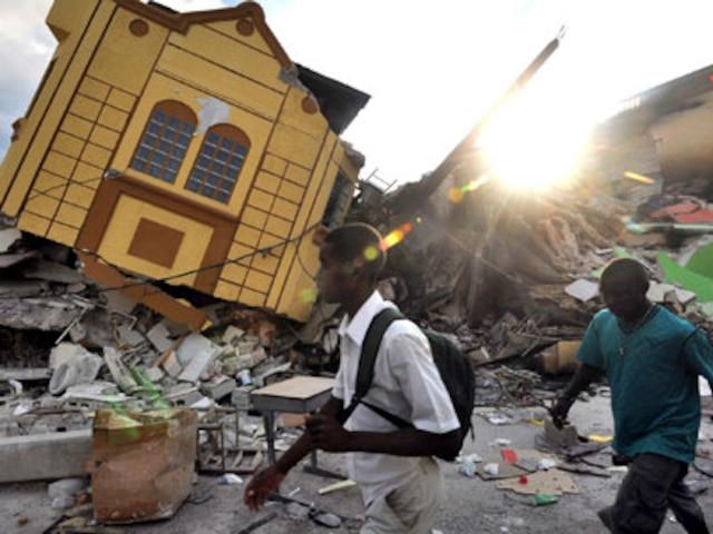 PORT-AU-PRINCE  Cest la désolation totale un peu partout dans la ville.