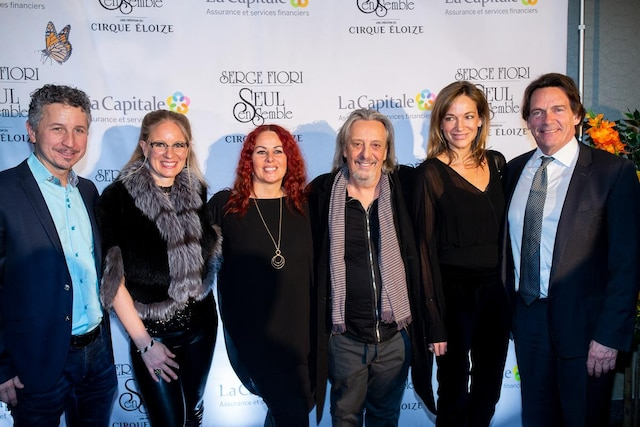 Serge Fiori, Jeannot Pinchaud, Pierre Karl Péladeau et leur épouses