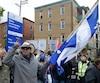 Environ 150 manifestants ont marché en faveur de la laïcité.
