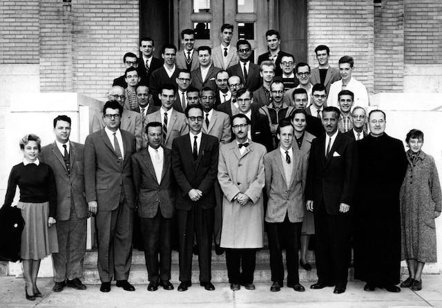 Pierre Demers en 1960 alors qu'il enseignait la physique à l'Université de Montréal.