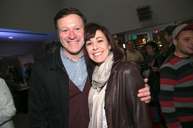 L'humoriste Stéphane Fallu et sa conjointe Sabrina ont assisté à la soirée de première du nouveau spectacle du duo humoristique Dominic et Martin.