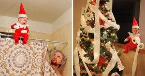 Image principale de l'article Un père transforme son bébé en lutin de Noël