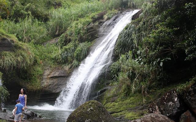 Les chutes Concord sont  faciles d'accès et des  cascadeurs y plongent  moyennant une  légère rétribution.