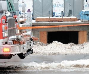 Tony Magi a été assassiné dans l'entrée de ce garage en construction.