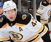 L'attaquant David Backes est en mission avec les Bruins.
