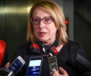 La ministre des Relations internationales Christine St-Pierre