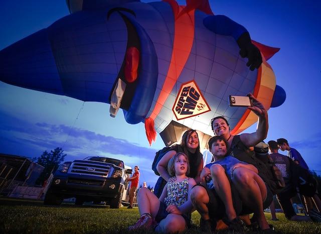 Le Festivent est également l'occasion d'admirer des montgolfières hors du commun.