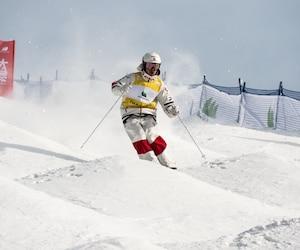 Le Québécois Mikaël Kingsbury a signé sa 51<sup>e</sup> victoire en Coupe du monde de ski acrobatique (bosses), ce samedi 15 décembre 2018, à Thaiwoo, en Chine.