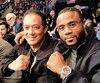 Jean Pascal a assisté à la soirée de boxe en compagnie de son beau-père Nevis Ramirez.