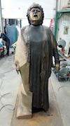 Luc Laramée a travaillé près de quatre ans pour réaliser une sculpture en bronze de Ginette Reno qui mesure 9 pieds et coûte 750 000 $