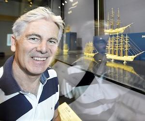 Voilà maintenant 30ans que Gaston Déry préserve 42sculptures qui témoignent des plus grands moments de l'histoire de la navigation mondiale.