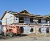 Chantier d'habitations maison construction