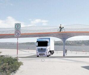 La passerelle cyclable de Dalhousie doit s'étendre sur 322m. Elle sera aménagée au printemps prochain au coût de 6M$.