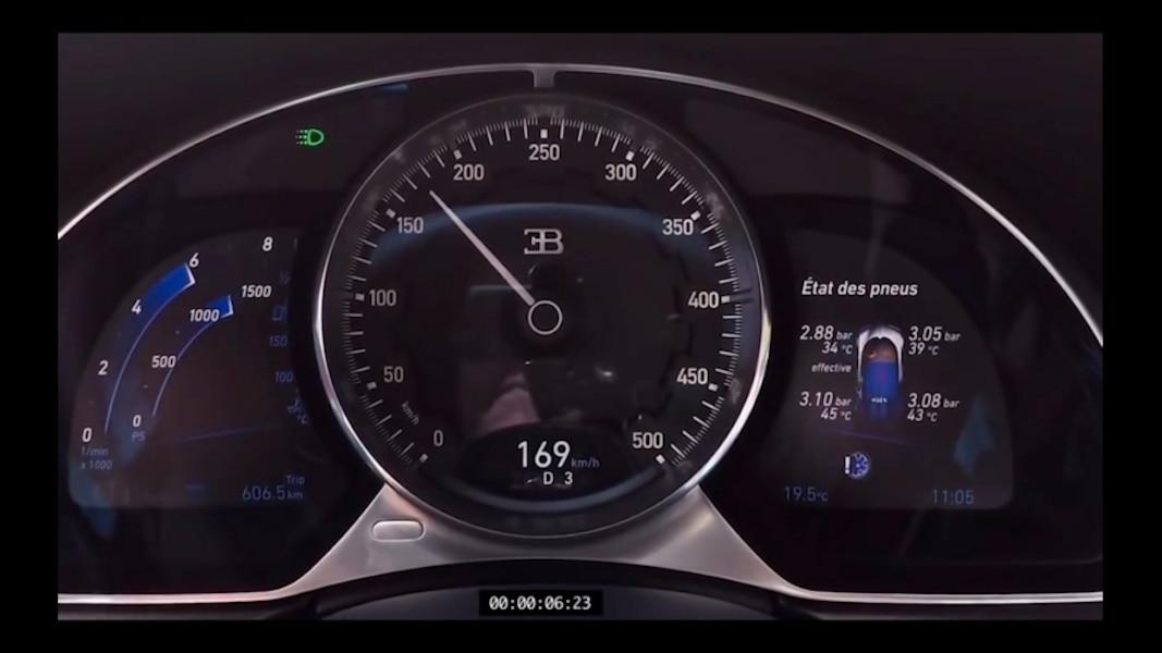 Bugatti Chiron Fiche Technique >> Bugatti Chiron: voyez le compteur de vitesse s'envoler! | JDM