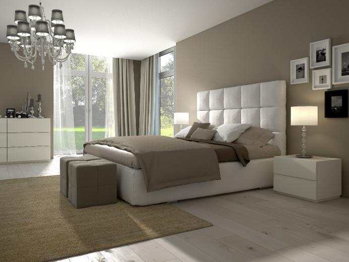 Chambre à coucher le choix de lignes droites un mélange de styles réussi