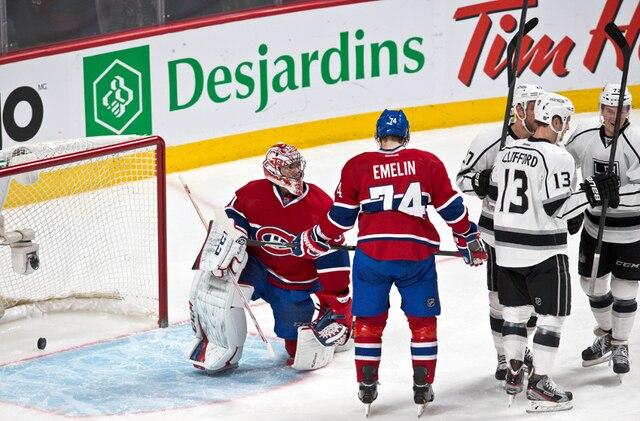 Le but de Alec Martinez en deuxième période lors du match opposant les Kings de Los Angeles et le Canadien de Montréal au centre Bell.