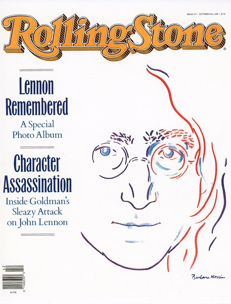 Couverture de  Rolling Stone Magazine, John Lennon  Remembered, 1988. <br /> Aquarelle sur papier.<br /> Au fil du temps, sa vision audacieuse a fait de Nessim une illustratrice influente.