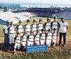 L'équipe de Rouyn qui a représenté le Canada en 1982.