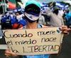 La manifestation était organisée à l'appel de l'Alliance civique pour la justice et la démocrate.