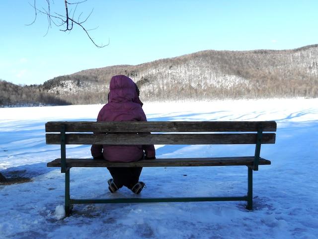Une halte au lac Hertel.