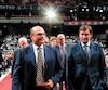 Peter Chiarelli (ici avec Wayne Gretzky lors du repêchage de 2017) a finalement été congédié après un passage catastrophique avec les Oilers d'Edmonton.