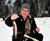 Michel Simard, de Baie-Saint-Paul, a profité pleinement de son excursion de pêche sur le lac Lindsay dans la réserve faunique de Portneuf.