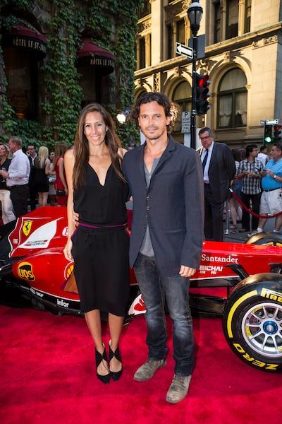 Gaby Karan et Jhon Paulo Felice lors de la soirée Ferrari à l'Hôtel St-James.