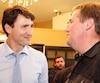 <strong>Comme à son dernier passage, le premier ministre du Canada n'a pas manqué de prendre des photos avec les électeurs.</strong>