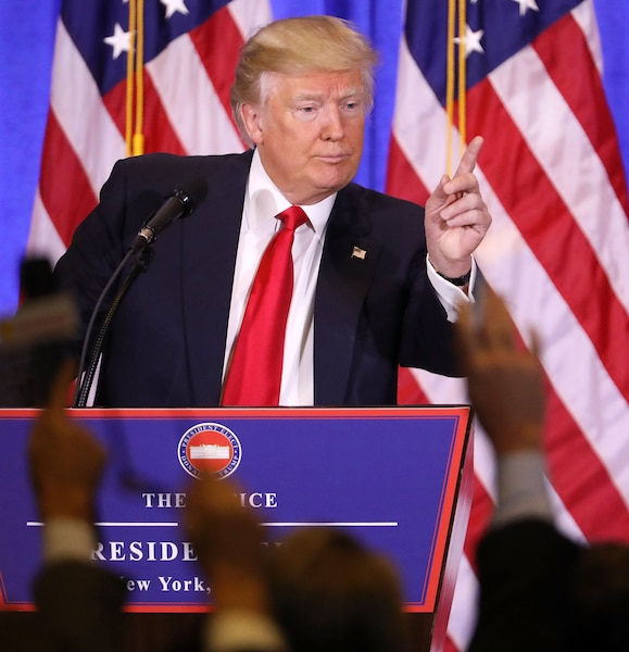 US-PRESIDENT-ELECT-DONALD-TRUMP-HOLDS-PRESS-CONFERENCE-IN-NEW-YO