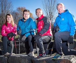 Nathalie Fortin, Benoît Lamoureux, Serge Dessureault et Maurice Beauséjour se préparent pour leur grand défi.